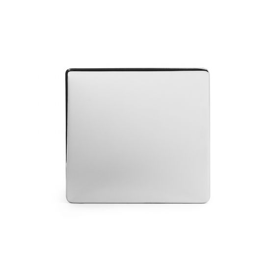 The Finsbury Collection Polished Chrome Luxury metal Single Blanking Plate