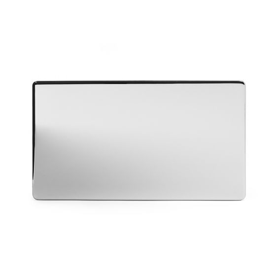 The Finsbury Collection Polished Chrome Luxury metal Double Blanking Plate
