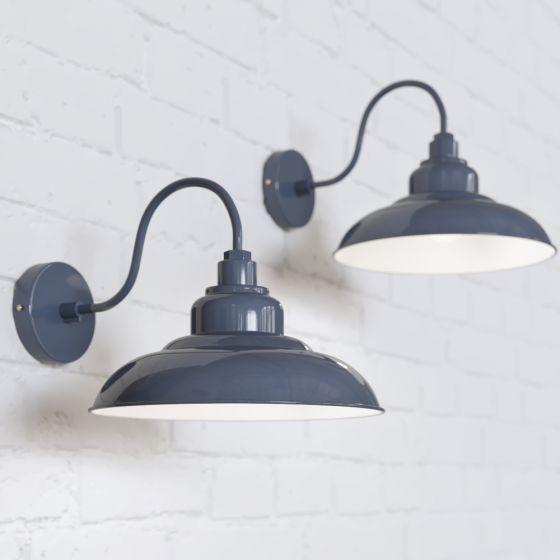 Portland Reclaimed Style Wall Light Leaden Grey Slate - Soho Lighting