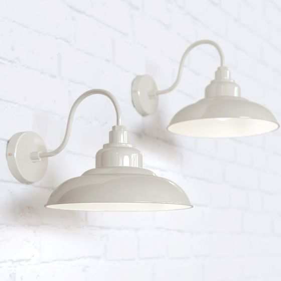 Portland Reclaimed Style Wall Light Clay White Cream - Soho Lighting