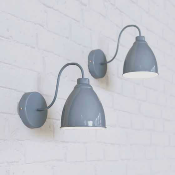 Oxford Vintage Wall Light French Grey - Soho Lighting