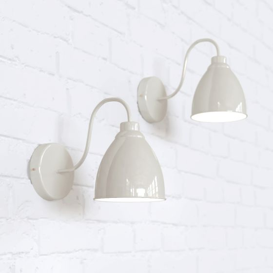 Oxford Vintage Wall Light Clay White Cream - Soho Lighting
