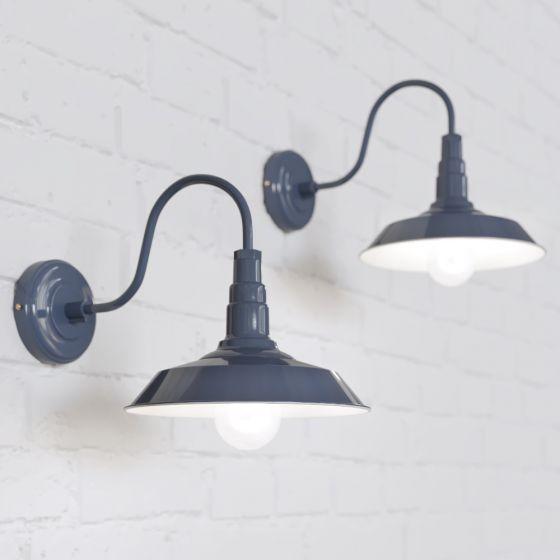 Argyll Industrial Wall Light Leaden Grey Slate - Soho Lighting