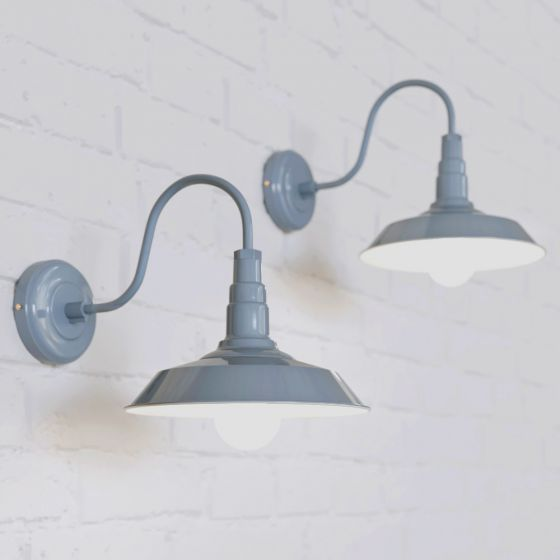 Argyll Industrial Wall Light French Grey - Soho Lighting