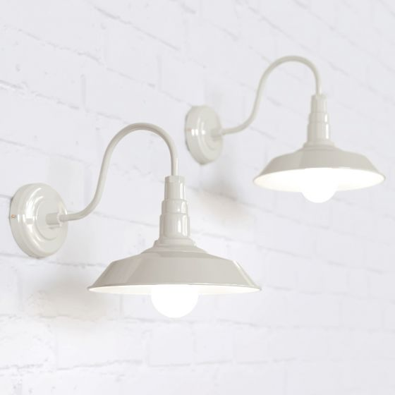 Argyll Industrial Wall Light Clay White Cream - Soho Lighting