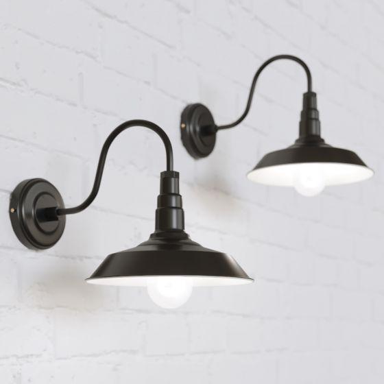 Argyll Industrial Wall Light Matt Black - Soho Lighting