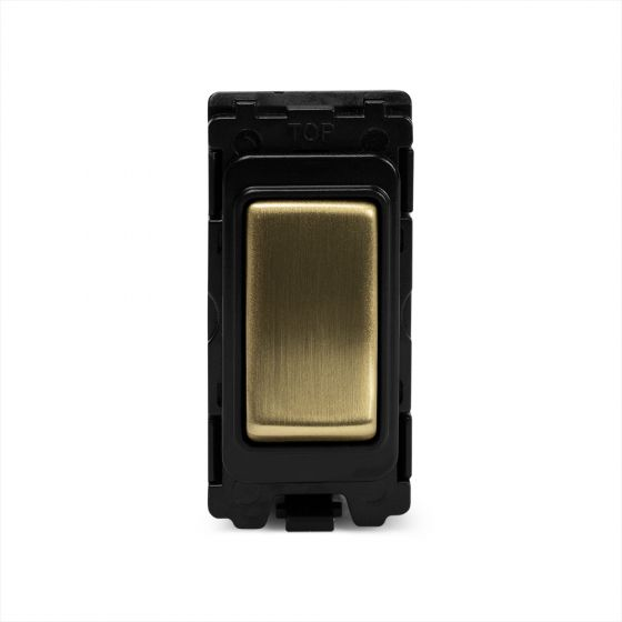 The Savoy Collection Brushed Brass 2 Way And Off Grid Switch Module