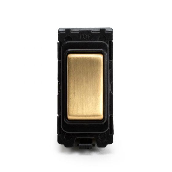 Soho Lighting Brushed Brass 20AX 1 Way Retractive Grid Switch (Push to make)