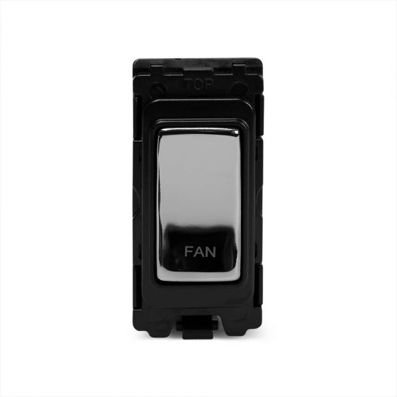The Finsbury Collection Polished Chrome 20A Double Pole Marked As Fan Grid Switch Module