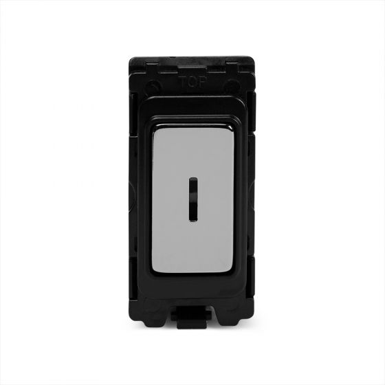 The Finsbury Collection Polished Chrome 1 Gang Double Pole Key Switch Grid Switch Module