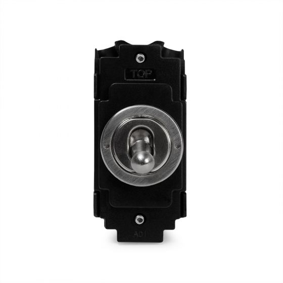 The Lombard Collection Brushed Chrome 20A 2 Way Retractive LT3-Toggle Switch Module