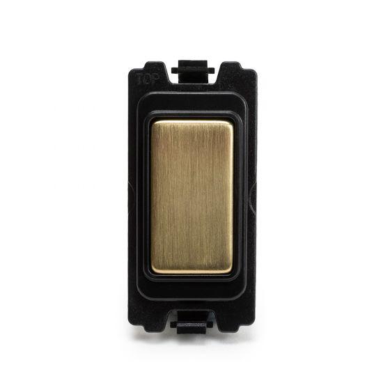 Soho Lighting Brushed Brass Blank Grid Module