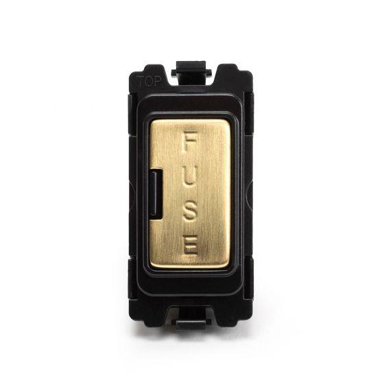 Soho Lighting Brushed Brass Fuse Unit Grid Module