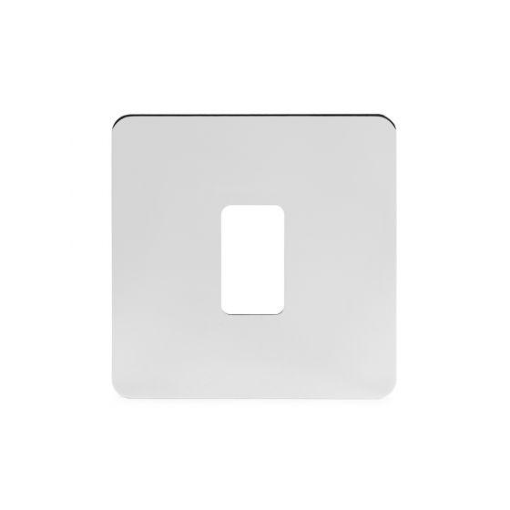 Soho Lighting Polished Chrome Flat Plate 1 Gang Grid Plate Screwless