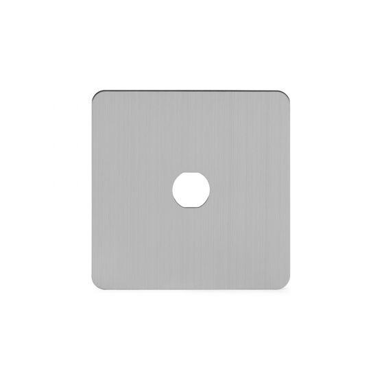 Soho Lighting Brushed Chrome Flat Plate 1 Gang Toggle Plates Screwless