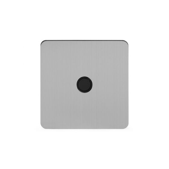 Soho Lighting Brushed Chrome Flat Plate 20A Flex Outlet Blk Ins Screwless
