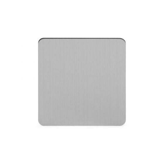 Soho Lighting Brushed Chrome Flat Plate Single Blank Plates Screwless