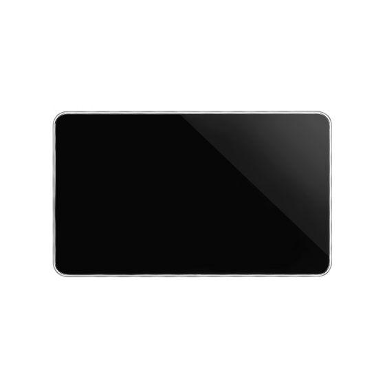 Soho Lighting Black Nickel Plate with Chrome Edge Double Blank Plates Screwless