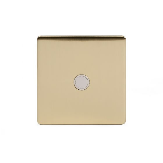 Soho Lighting Brushed Brass 20A Flex Outlet Wht Ins Screwless