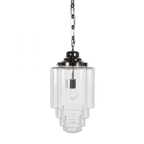 Glasshouse Nickel Clear Pendant Light - The Schoolhouse Collection