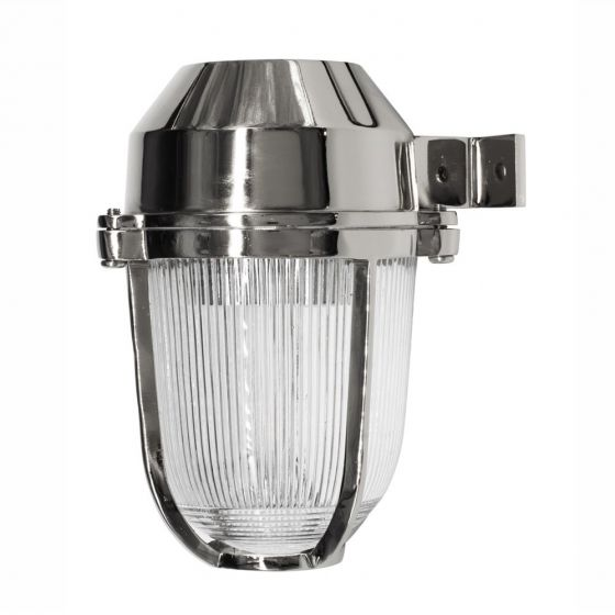 Hopkin Nickel IP66 Prismatic Glass Outdoor & Bathroom Wall Light