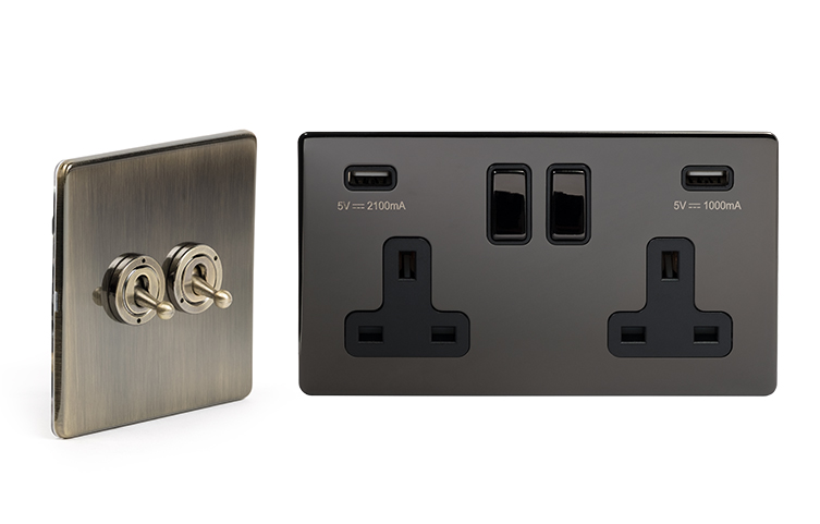 Luxury Screwless Sockets and Switches