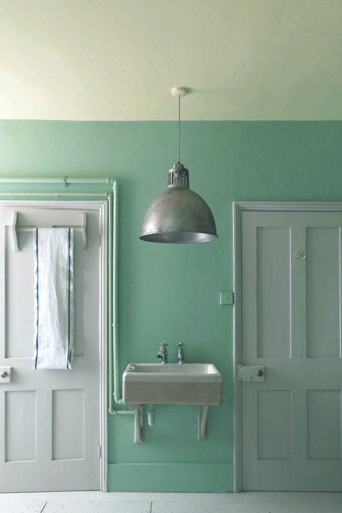 Mint green interior design