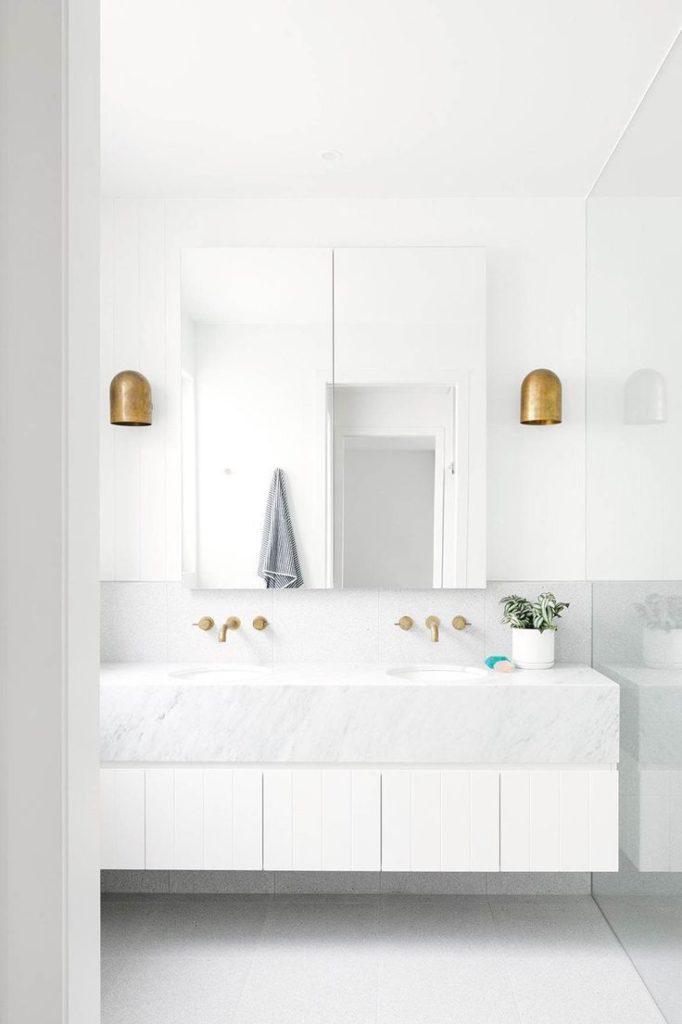 white marble bathroom modern