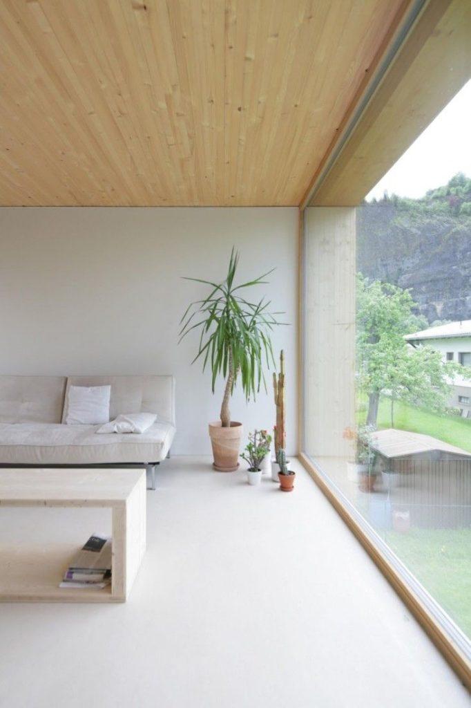 modern minimal white interior