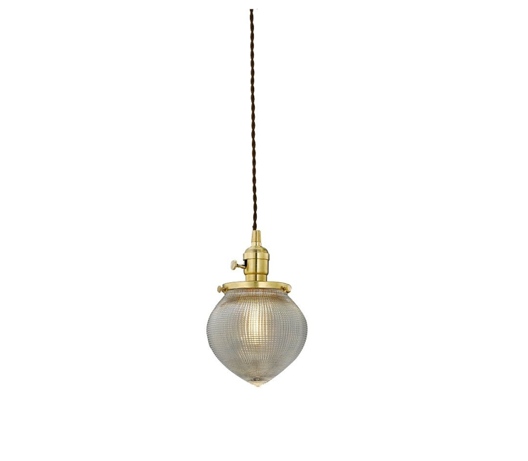 schoolhouse art deco pendant light