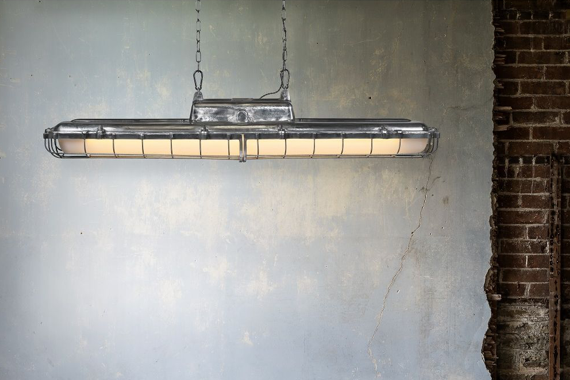 industrial chic lighting living room kitchen interior design decor aluminium strip light