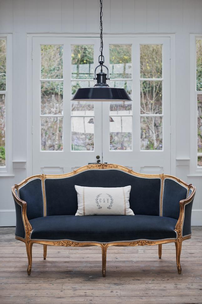 industrial chic lighting living room kitchen interior design decor navy