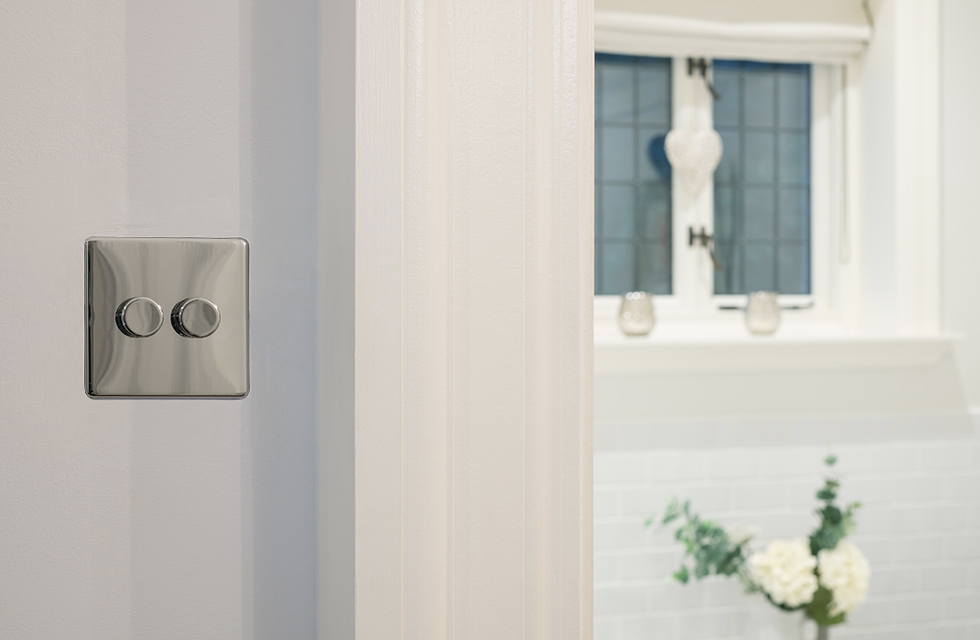 dimmer light switch chrome