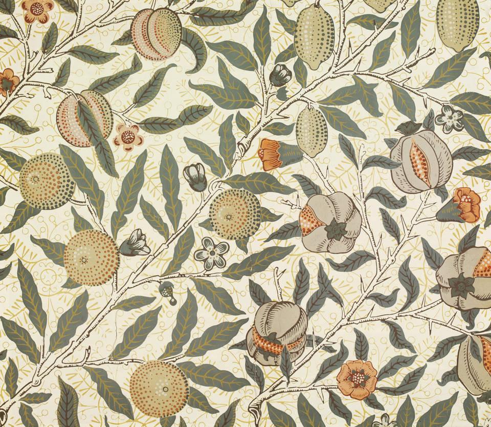 Fruit wallpaper, William Morris, 1865 – 66, England. Museum no. E.2210-1913. © Victoria and Albert Museum, London