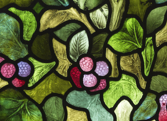 Berries and Leaves Design by William Morris - Stained Glass