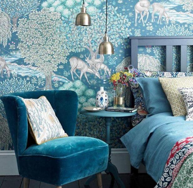 The Brook wallpaper, William Morris