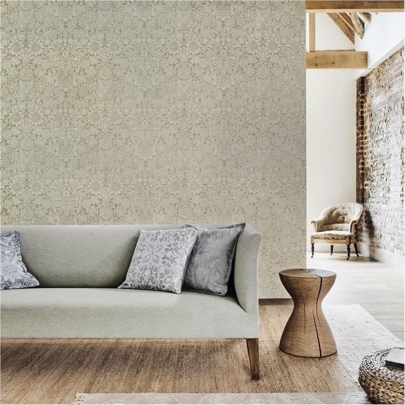 Sunflower wallpaper, designed by William Morris