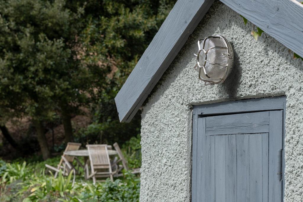 black nickel Carlisle grid prismatic outdoor garden light