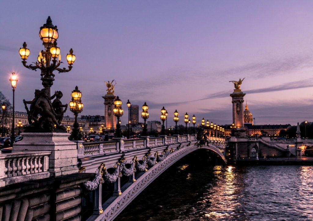 Parisian street lights history